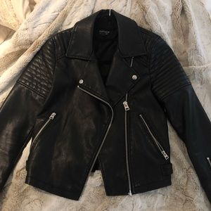 TOPSHOP Classic Faux Leather Jacket